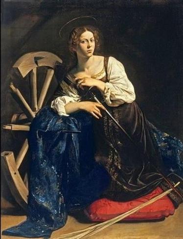 Микеланджело Меризи да Караваджо  «Святая Екатерина Александрийская» Холст, масло. 173 x 133 см 1598 г.