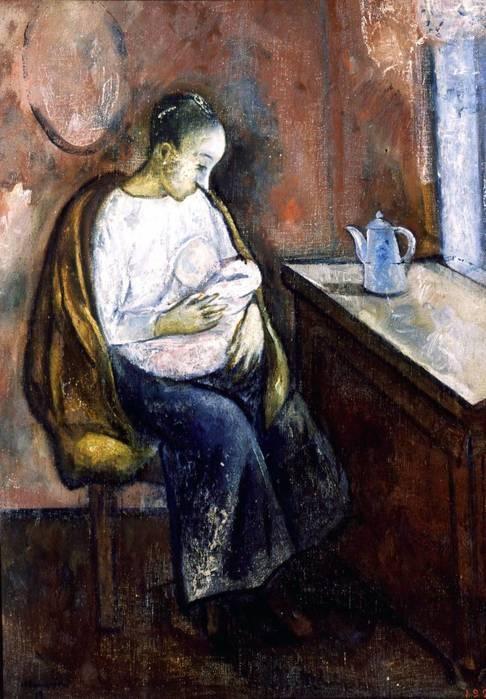Н. Синезубов «Мать» 1919 г. Холст, масло. 64x46 см. Государственный Русский музей