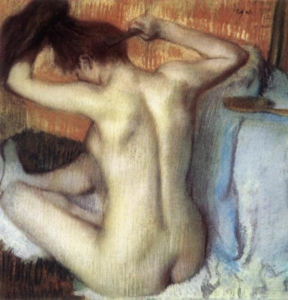 Эдгар Дега  «Причесывающаяся женщина» 1890 г.