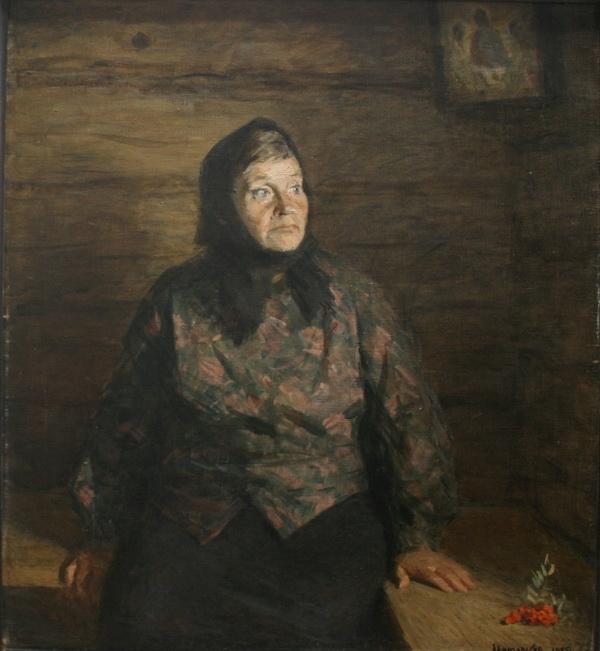 Виктор Григорьевич Цыплаков «Жена» Холст, масло. 100х90 см 1975 г.
