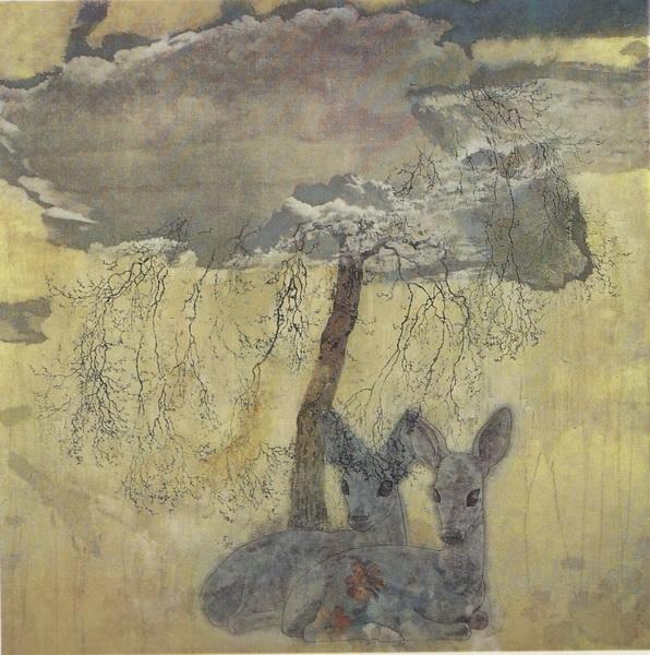Иосихиро Симода  «Синий ветер»  картина 98,5х98,5 1969 г.