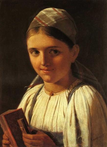 А. Г. Венецианов «Девочка с гармоникой»