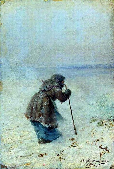 «Добредёт ли?» 1896 г. Холст, масло. Иркутский областной художественный музей им. В.П.Сукачёва