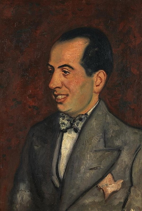 Н. Синезубов «Portrait de M. Simanpart» (Портрет г-на Симанпа) 1935 г. Холст, масло. 50x35 см