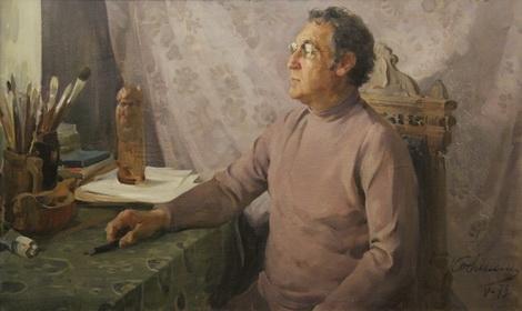 В.М. Ковинин 'Портрет художника Щупака' холст, масло; 67х112; 1979 год