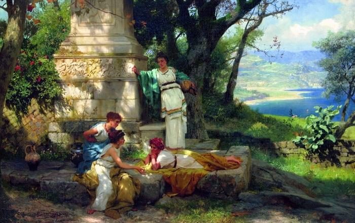 Генрих Семирадский  «Игра в кости»  1899 г.