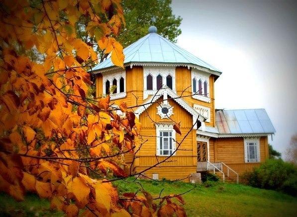 Академическая дача художников. Павильон Восьмигранник, построенный к приезду Великого Князя Владимира Александровича.
