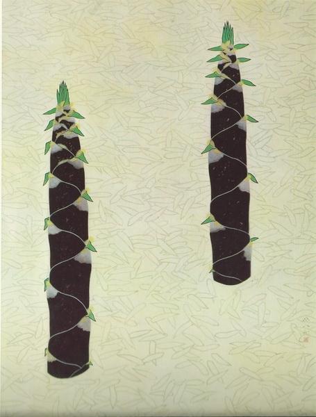 Xэйхатиро Фукуда  «Побеги бамбука»  картина 134x99 1947 г.