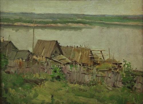 В.Г. Гремитских «Маркваши» Картон, масло. 45х59 см 1960 г.