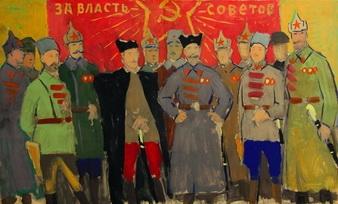Г.М. Гордон Эскиз к картине 'Полководцы Гражданской войны' бумага, темпера; 49х82; 1972-75 годы