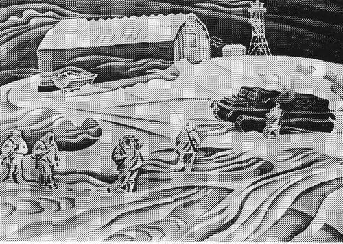 Рустам Исмаилович Яушев «Ветреный день» из серии «На страже мирного труда» 1978 г.