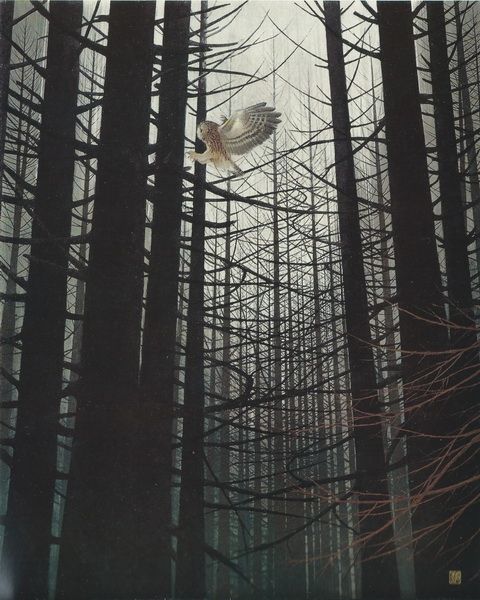 Такеси Исида  «Холодная роща» картина  93х74,5 1973 г.