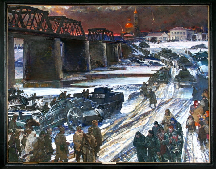 Харис Якупов «Елец. 9 декабря 1941 года» Холст, масло.