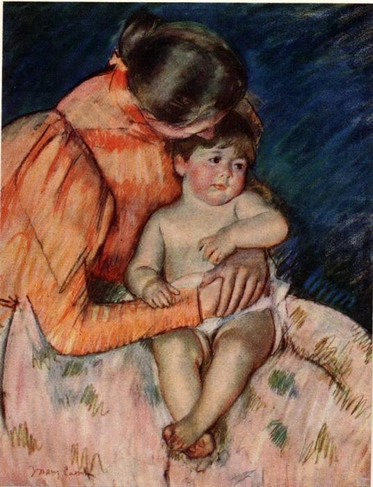 Мери Кессет. Мать и дитя. Пастель.