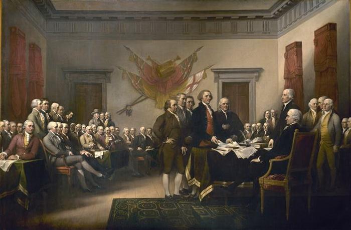 Джон Трамбалл. Декларация независимости. 1817-1819 гг. Холст, масло.