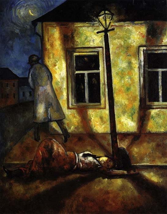 Н. Синезубов «Улица» 1919 г. Холст, масло. 97х74 см Ивановский художественный музей, г. Иваново
