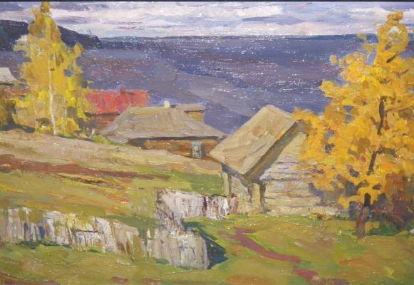 Суровцев А. П. «Осень на Волге» 1960-е гг. Холст, масло. 40 x 70 см