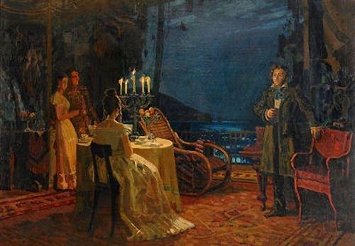 Н.Н. Горлов «Пушкин в семье Раевских» Холст, масло. 200х170 см, 1960 г.