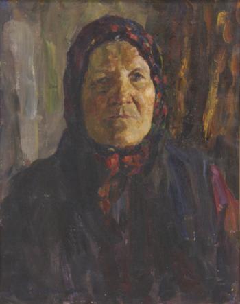 Мать партизана. 1973 г. холст, масло.65х43 см