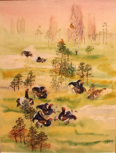 Иллюстрация к «Лесной газете» В. Бианки