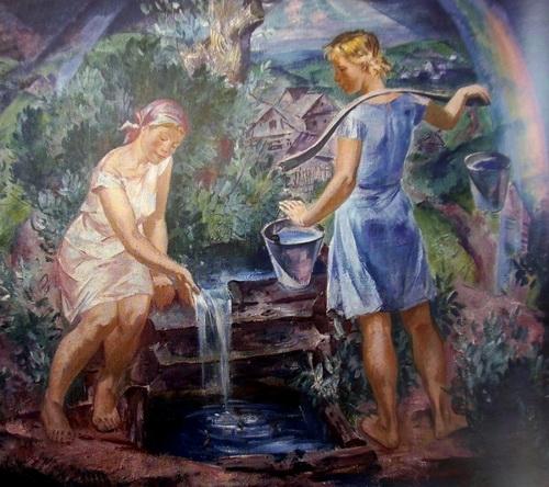 Б.И. Шаманов «У родника» 1969 г.