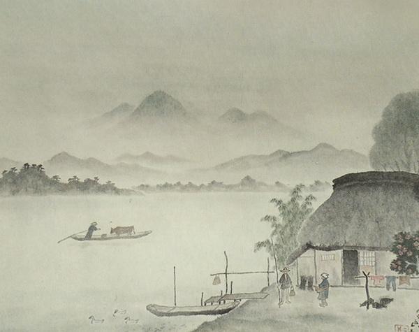 Санрио Сакаи  «Тихий день на прибрежьи» картина71,7х89,3  1966 г.