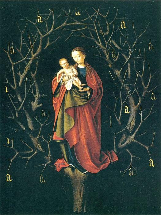 Петрус Кристус  «Богоматерь сухого дерева»  1465 г., 14,7 х 12,4 см • Масло, дерево.