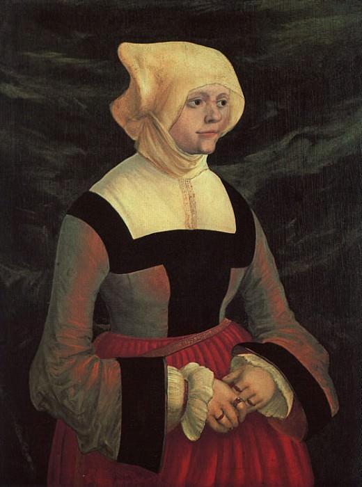 Альбрехт Альтдорфер «Портрет молодой женщины» Еловая доска, масло.