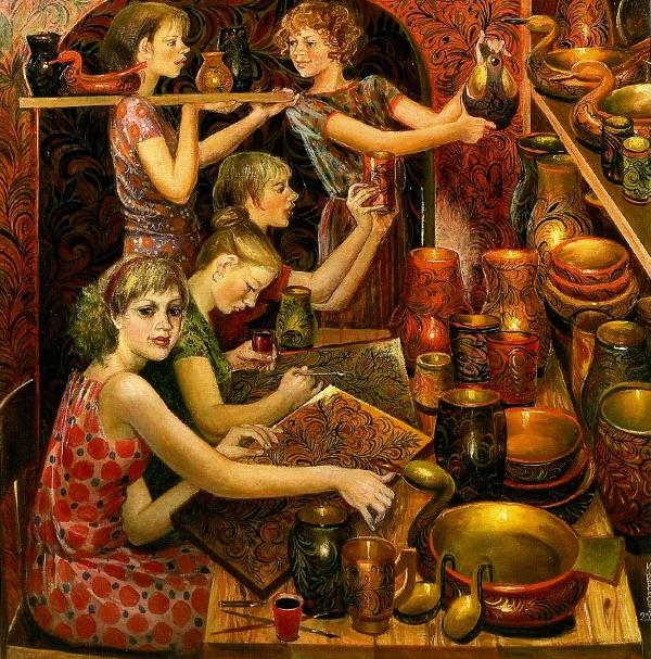 И.А. Широкова «Семёновская сказка» Холст, масло. 1981 г. (Вариант)