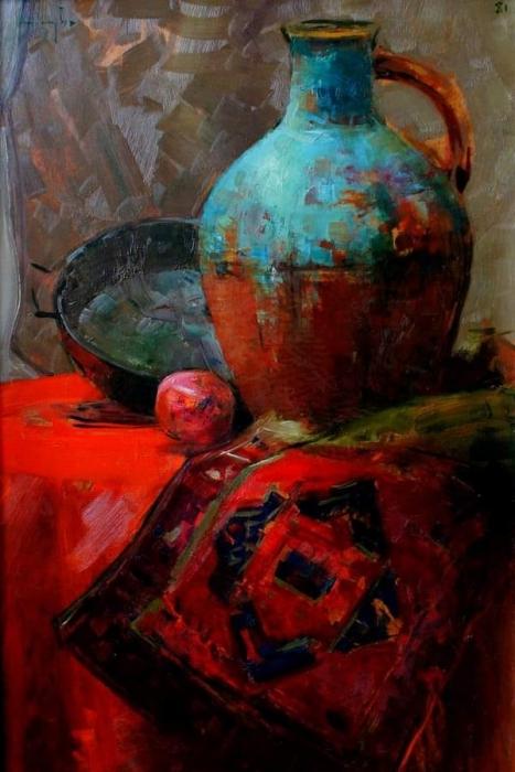 Уча Джапаридзе. «Натюрморт с кувшином». 1982 г.