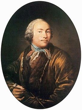 Иван Петрович Аргунов (1729—1802). Предполагаемый автопортрет.
