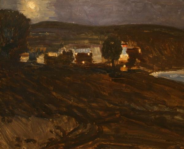 В.К. Нечитайло «Южная ночь» Картон, масло. 79х100 1969 г.