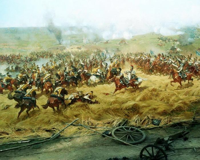 Ф. Рубо. Бой во ржи. Фрагмент панорамы «Бородинская битва». 1912 г.