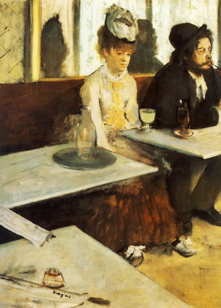 Эдгар Дега «В кафе (Любительница абсента)» 1876 г.  92х68см  Musée d'Orsay, Paris, France