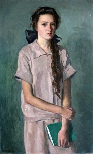 Н.М. ЧЕРНЫШЁВ  «Девочка с книгой»