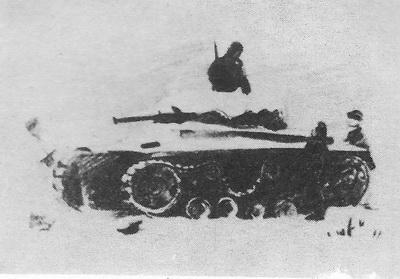 Xарис Якупов. Подбитый танк. Карандаш. 1941 г.