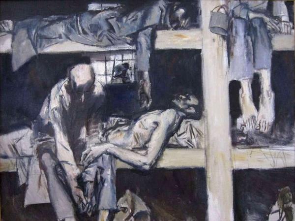 Из собрания РАХ, серия рисунков Е.Е.Моисеенко о пребывании в концлагере.