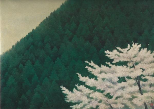 Кайи Хигасияма  «Тихая весна» картина  73х100 1968 г.