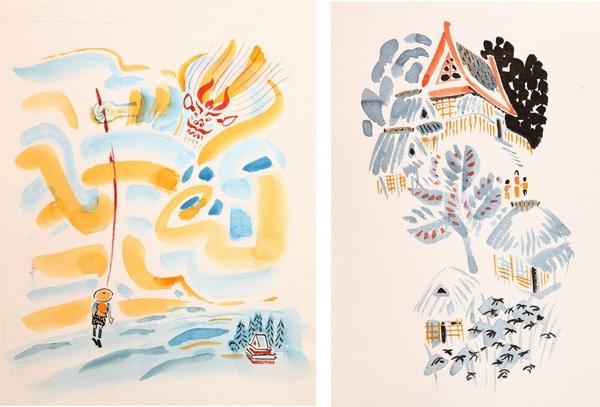 «Японские народные сказки»  Изд. «Детская литература» 1983 г. Иллюстрация Мая Митурича