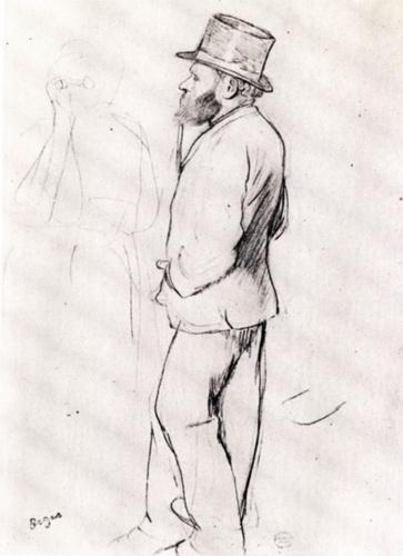 Эдгар Дега «Мане на скачках»  1870 г.  32х24см  Metropolitan Museum of Art, New York City