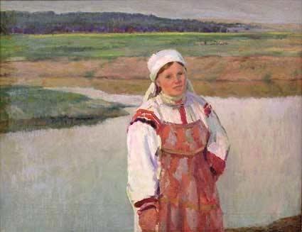 Соколов А. Д.  «Мордовия. На реке Мокша.»  1968 г.