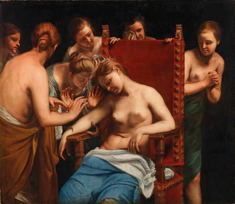 Гвидо Каньяччи «Самоубийство Клеопатры»  (Из собрания музея истории искусств, Вена, Австрия)