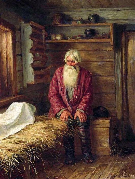 «Пережил старуху» 1896 г. Холст, масло. Львовская государственная картинная галерея, Львов, Украина