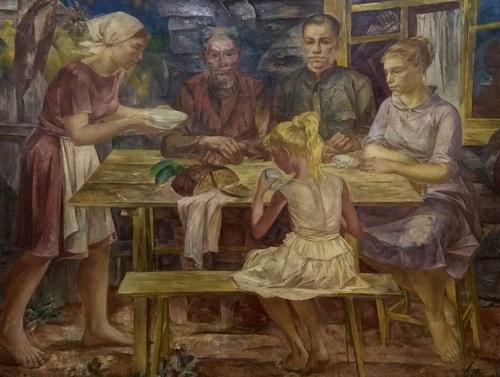 Б.И. Шаманов «Ужин в деревне. Семья.»  1964 – 1969 гг.