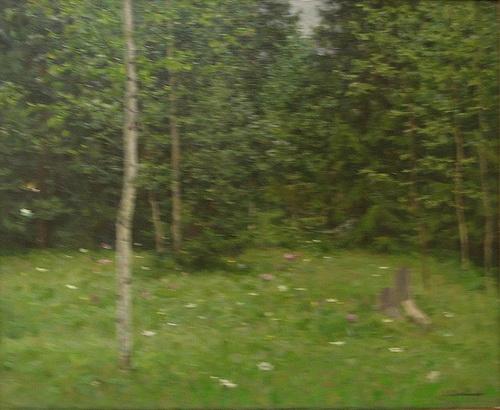 Ольга Григорьевна Светличная «Полянка в лесу»  Холст, масло. 50х60 см 1960 г. Белгородский художественный музей