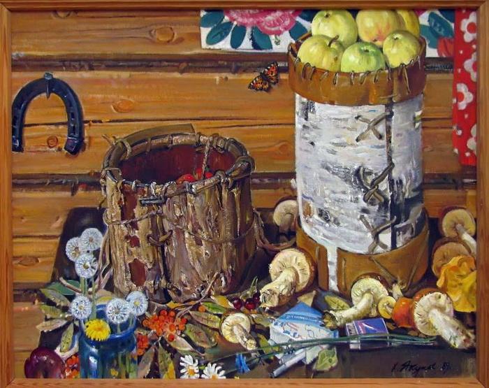 Харис Якупов «Щедрый август», 1989 год, холст, масло, частное собрание.