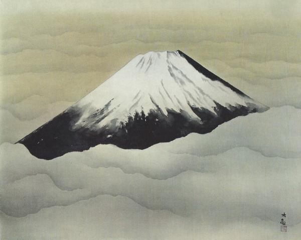 Тайкан Иокояма  «Бог в душе» картина 70х88 1952 г.