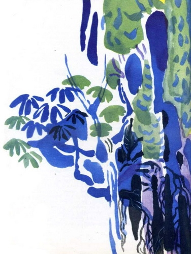 Иллюстрация Мая Митурича к «Маугли» Р. Киплинга