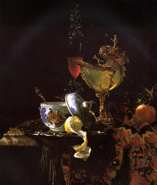 Виллем Кальф  «Натюрморт с наутилусом»  Холст, масло. 1660 г.
