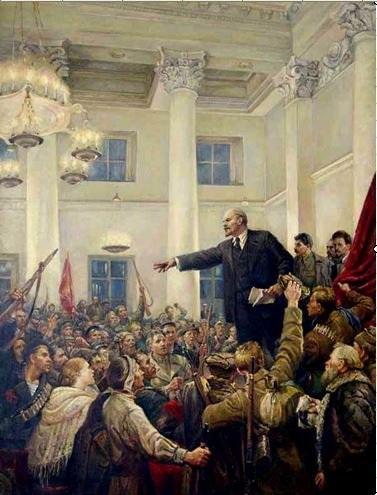 В.А. Серов «В.И. Ленин провозглашает Советскую власть»